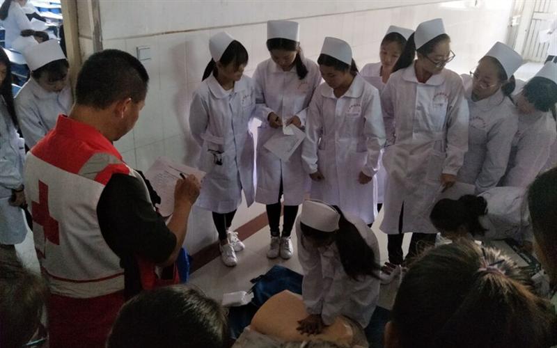 江西省红十字会在我院举办急救培训班